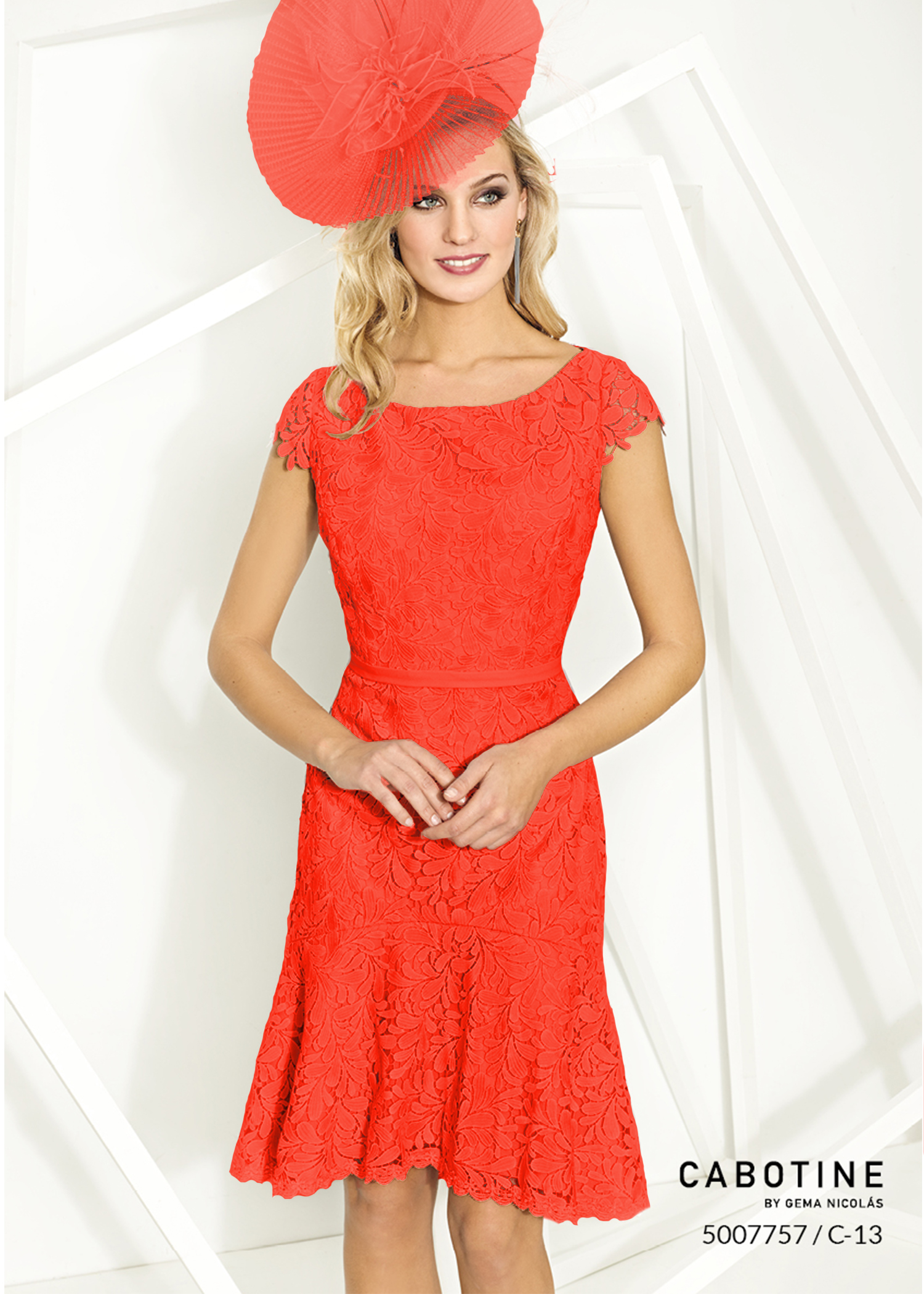 Cabotine Dress Jacket 5007757 Coral Mother Of The